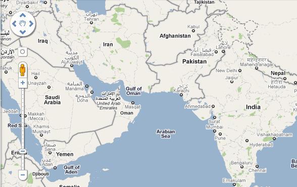 Cartina Muta Medio Oriente E Asia Centrale