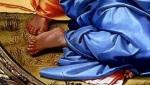 i piedi , particolare del Tondo  di Michelangelo 2