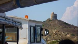 con il trenino raggiungiamo la Torre di San Giovanni