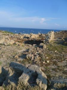 le rovine della città fenicia di Tharros
