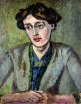 Portrait of Virginia Woolf by Roger Fry, 1917, via Wikimedia Commons